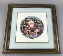 "Load image into Gallery viewer, 1993 PATRICIA BUCKLEY MOSS LITHOGRAPH ""SANTA'S FRIENDS"" 682/3719 - LOT 3467"