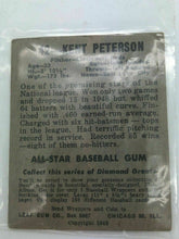 Load image into Gallery viewer, 1948 KENT PETERSON  LEAF GUM CO BASEBALL CARD #42 BOX 5907 - LOT 2754