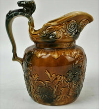 Load image into Gallery viewer, (3) BROWN GLAZE POTTERY PITCHERS lot 2769