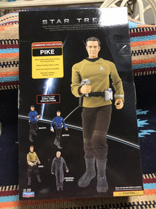 "STAR TREK COMMAND COLLECTION CAPTAIN PIKE 12"" ACTION FIGURE wACCESSORIES NEW9094"