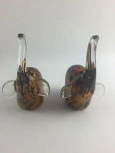 (2) Decorative Elephant Figurines / Paperweights - lot 1325