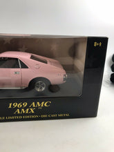 Load image into Gallery viewer, 1969 AMC AMX 10 YEARS AMERICAN MUSCLE ERTL 1:18  ERTL PINK 2001 NIB-3146