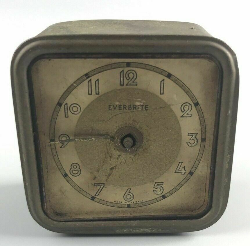 Vintage Everbrite Wind Up Alarm Clock- 2182