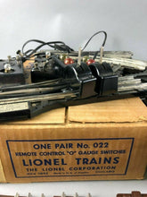 Load image into Gallery viewer, 75pcs of LIONEL MAGNETIC TRACK & (2) # 022 REMOTE CONTROL SWITCHES -