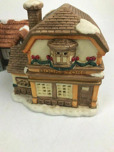 Assorted Lot Of Porcelain Christmas Houses And Figurines- Lot 592