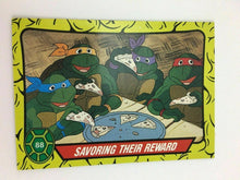 Load image into Gallery viewer, TOPPS 1989 TEENAGE MUTANT NINJA TURTLE TRADING CARDS 88 OF 99  CARDS- LOT 2750
