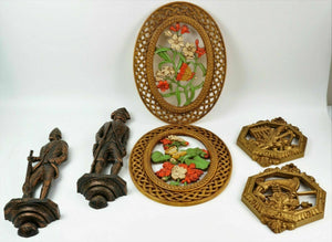 (6) ASSORTED RESIN WALL PLAQUES lot 2786