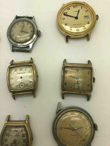 Lot Of 9 Vintage Mechanical MENS Wrist Watch, Chronograph Types And More B6
