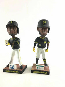 A Pair Of Pittsburgh Pirates, Starling Marte And Josh Harrison Bobble Heads4487