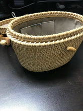 Load image into Gallery viewer, Nantucket Wicker Purse Lined- W2-R