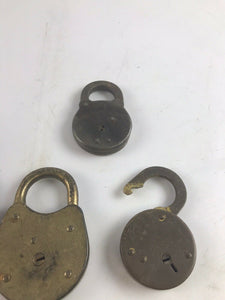 Assorted Lot Of 4 Vintage Brass Locks- 6 Lever-Eagle ALC-5243