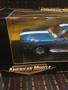 American Muscle 1968 AMC AMX 1:18 scale blue/white