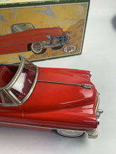 Load image into Gallery viewer, Vintage 50's Fifties Tin Friction Car 1950 Red Cadillac Open Japan RARE- B354