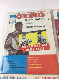 Assorted Lot Of 5 Vintage Boxing Magazines-1971-72 MINT-5483