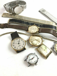 Assorted Lot Of Watch Dials & Bands- Parts Or Repair- 4777