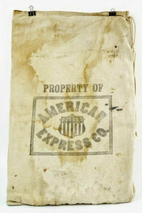 Antique American Express Canvas Money Bag - lot 2731