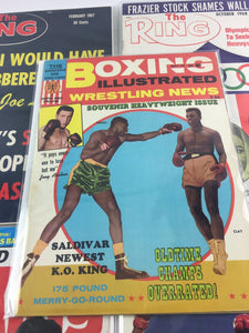 Assorted Lot Of 5 Vintage Boxing Magazines-1966-84MINT-5508