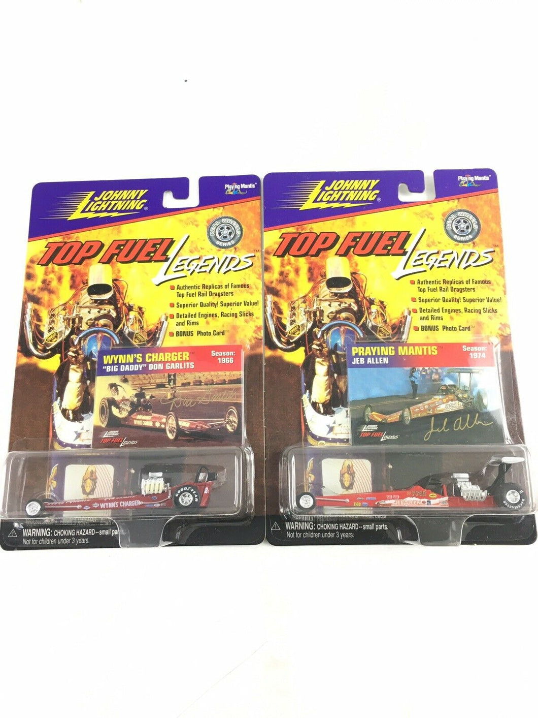 Johnny Lightning Top Fuel Legends Lot Of 2 DH 25