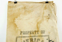 Load image into Gallery viewer, Antique American Express Canvas Money Bag - lot 2731