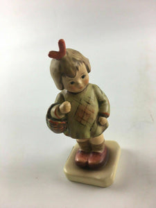Goebel M.I. Hummel Club Brought You a Gift Girl with Basket figurine 1987 4507