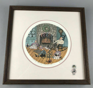 "1991 PATRICIA BUCKLEY MOSS LITHOGRAPH ""CHRISTMAS EVE"" 5052/5797- LOT 3466"