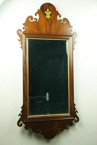 Mahogany Scroll Mirror - lot 2511