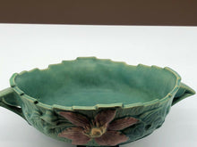 "Load image into Gallery viewer, VINTAGE ROSEVILLE CLEMATIS BOWL 457 9"" BLUE"