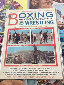 Assorted Lot Of 5 Vintage Boxing Magazines-1965-70 MINT- 5617