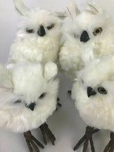 Load image into Gallery viewer, Assorted Lot Of 6 White Snow Owls- 4.9 inches High Each- Lot 545
