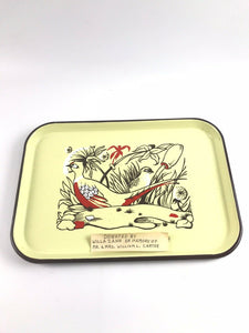Antique ING-RICH Rare Porcelian Enamel Tray- Beaver Falls5251