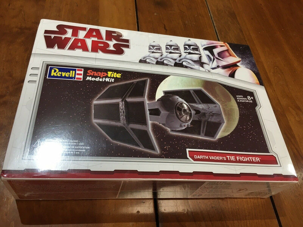 Star Wars Darth Vader's Tie Fighter Snap-tite Model Kit Revell New Sealed