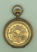 Load image into Gallery viewer, ANTIQUE SETH THOMAS HUNTER 11J 10K GF BUTTERFLY CASE POCKET WATCH - lot 4103R