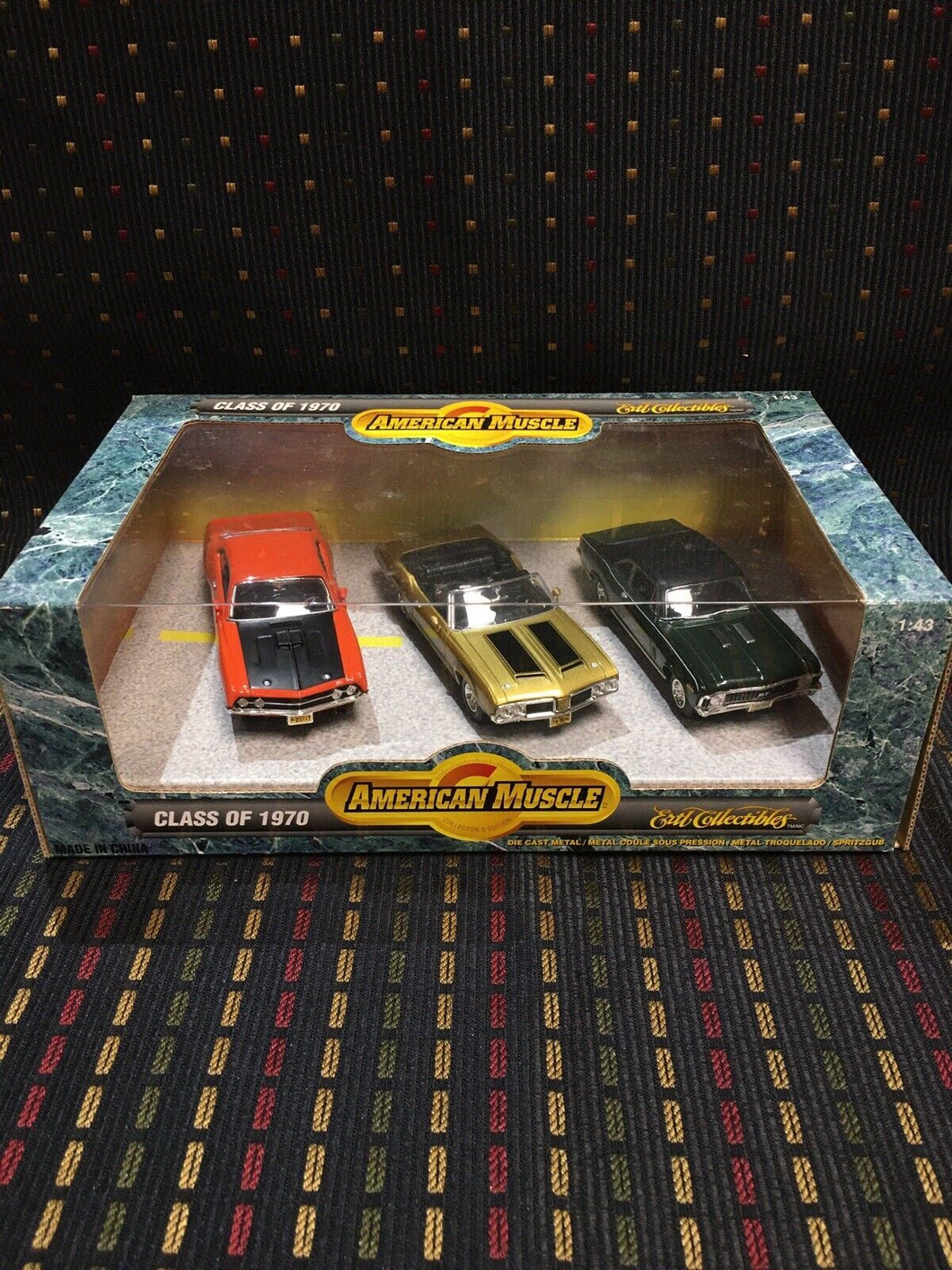 ERTL AMERICAN MUSCLE CLASS OF 1970 SET OF 3 CARS 1:43 SCALE DIE CAST FREE SHIP