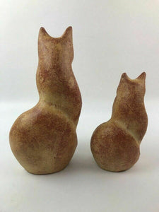 (2) Chalkware Cat Figurines - lot 2939