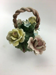 Vintage Capodimonte Flower Basket - Lot 3279