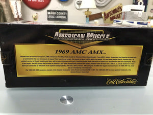 ERTL AMERICAN MUSCLE 1:18 1969 AMC AMX SERIALIZED CHASSIS 1 OF 3,750 B/NEW-3181