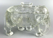 Load image into Gallery viewer, Co-Operative Clear Glass Elephant Jar- 1208