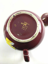 Load image into Gallery viewer, Hall China Maroon Windshield Gold Label 6 Cup Teapot 1940's Made In USA