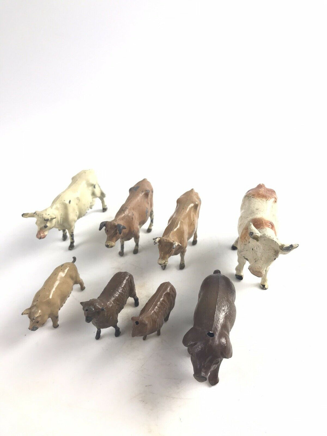 Assorted Lot Of 8 Lead Britains Animal Figurines- 5692