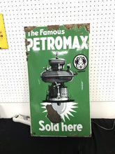 Load image into Gallery viewer, Vintage Porcelain Petromax Advertising Sign