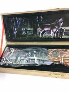Wolf, Bear, And Deer Collectors Knives 4731