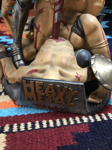 Heavy Metal Red Stacy Hand Painted Cold-Cast Statue -9071