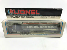 Load image into Gallery viewer, LIONEL TRAINS LIONEL GAS TANKER AND TRACTOR # 6-12739 O GAUGE LIONEL- 4815