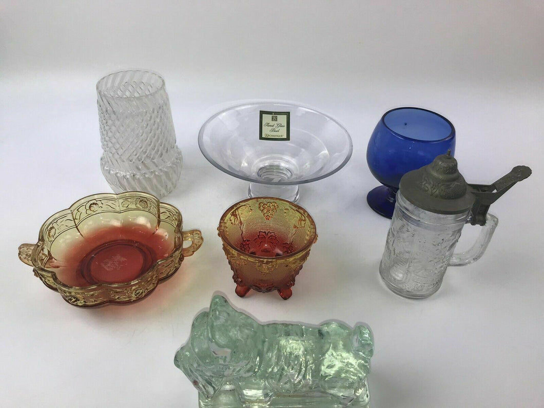 7pcs Assorted Glassware Bowls Cups and more - lot 3013