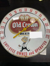 Load image into Gallery viewer, Vintage Old Crown Ale Beer Thermometer W/Boy 5089