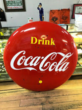 Load image into Gallery viewer, 1959 Vintage 4FT Canadian Coca-Cola Porcelain Button- 2456
