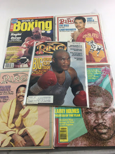 Assorted Lot Of 5 Vintage Boxing Magazines-1982-90MINT-5511