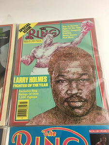 Assorted Lot Of 5 Vintage Boxing Magazines-1983-87MINT-5505