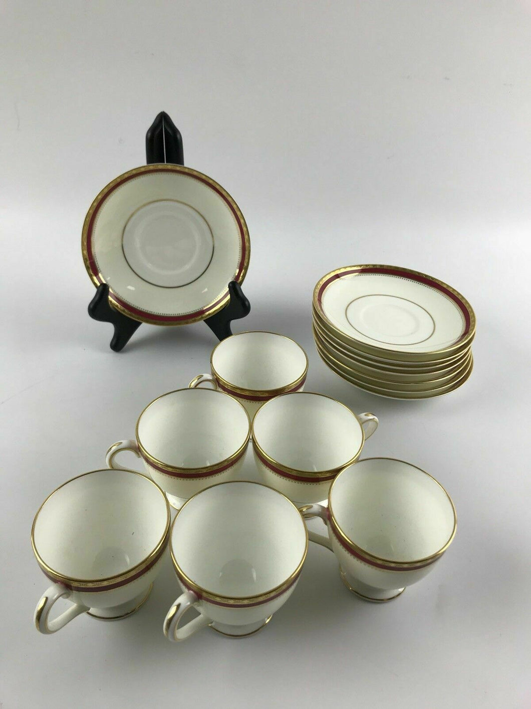 14pc Minton Bone China Cups & Saucers - lot 1294