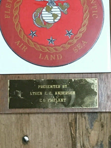 FLEET MARINE FORCE ATLANTIC AIR LAND SEA WALL PLAQUE - LOT 4125R